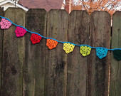 Crochet prayer flags