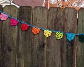 Crochet prayer flags