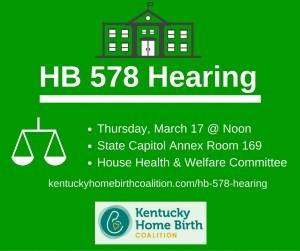 HB 578 Hearing
